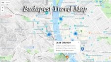 Map of Budapest for travelers