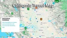 California Travel Map