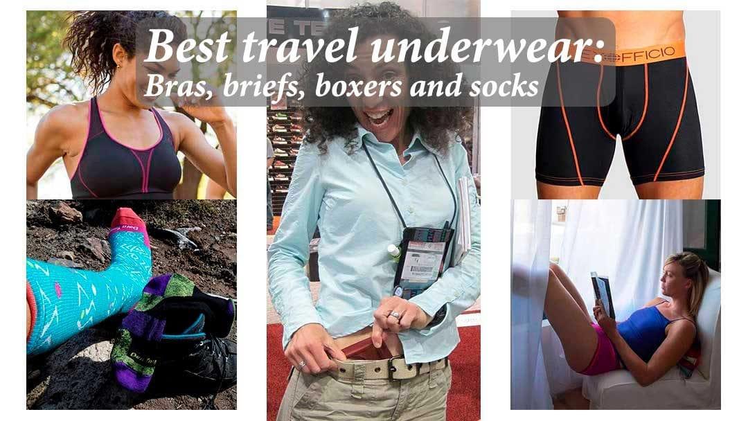 Best travel underwear – bras, briefs, boxers and socks