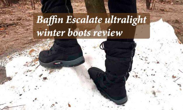 Baffin Escalate ultralight winter boots review – great travel footwear