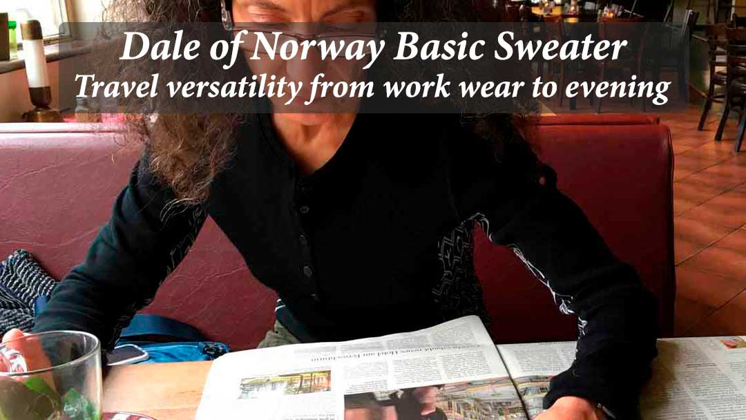 Dale of Norway Basic Sweater – travel versatility from work wear to evening