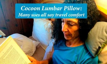 Cocoon Lumbar Pillow: Many uses all say travel comfort