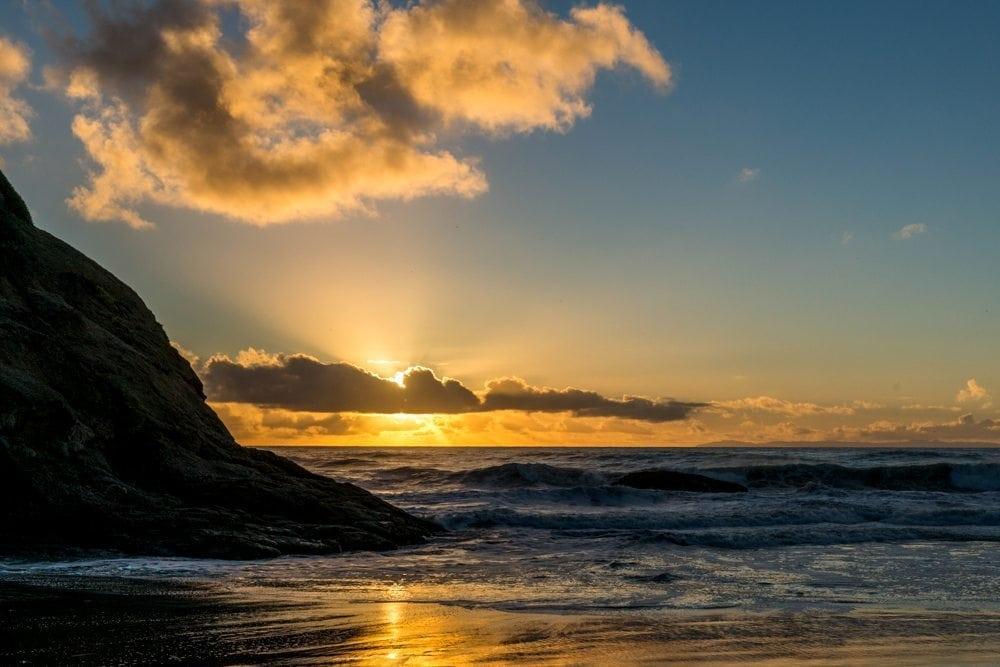 Sunset starburst at Dana Point
