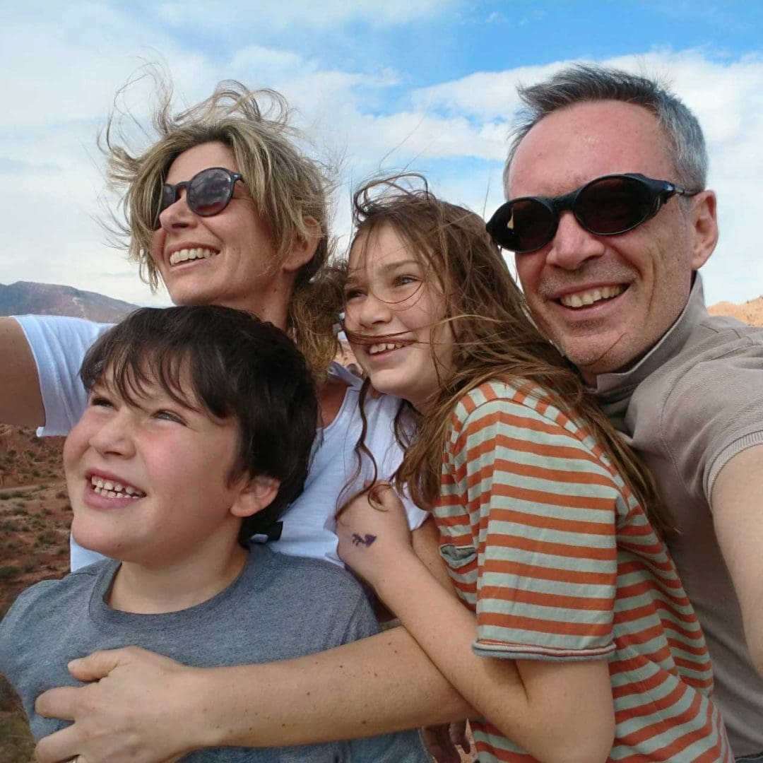 Fabrizio Ghilardi and his family.