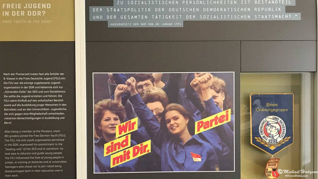 GDR Youth propoganda in the Stasi Museum
