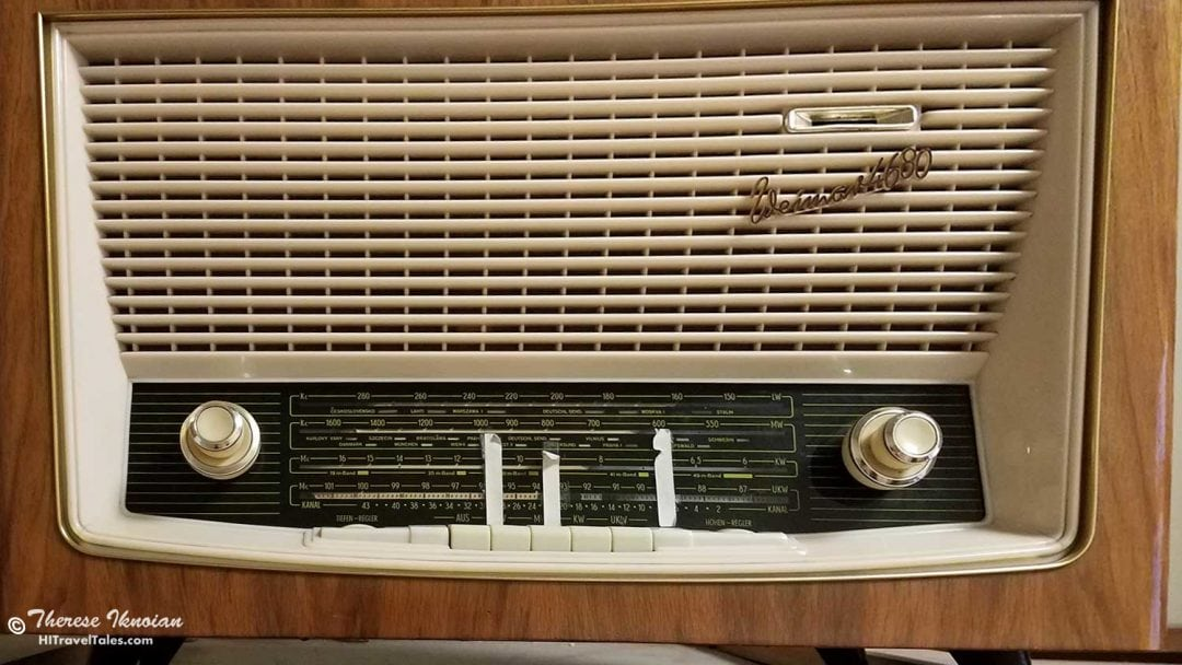 GDR radio with tape in the Stasi Museum