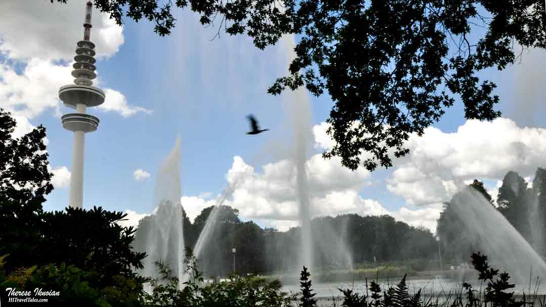 Planten Un Blomen fountains in Hamburg