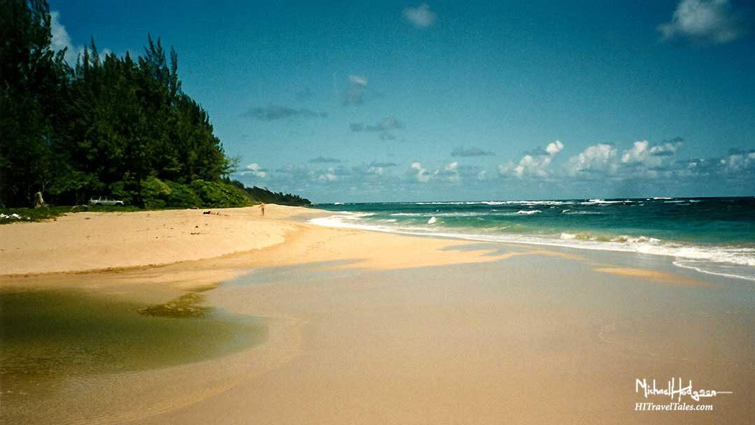 Hanakapiai Beach on Kalalau Trail