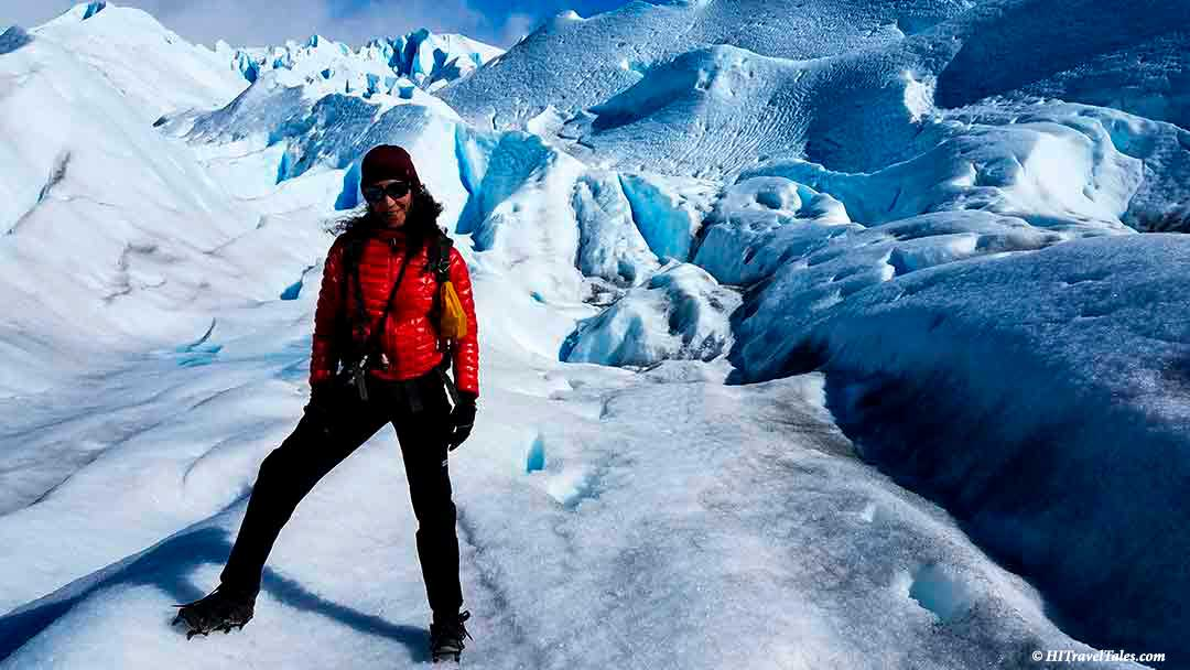 Therese on the glacier in Best of Patagonia