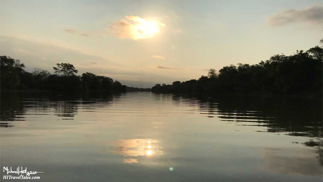 Sunset on the Bermejito River.