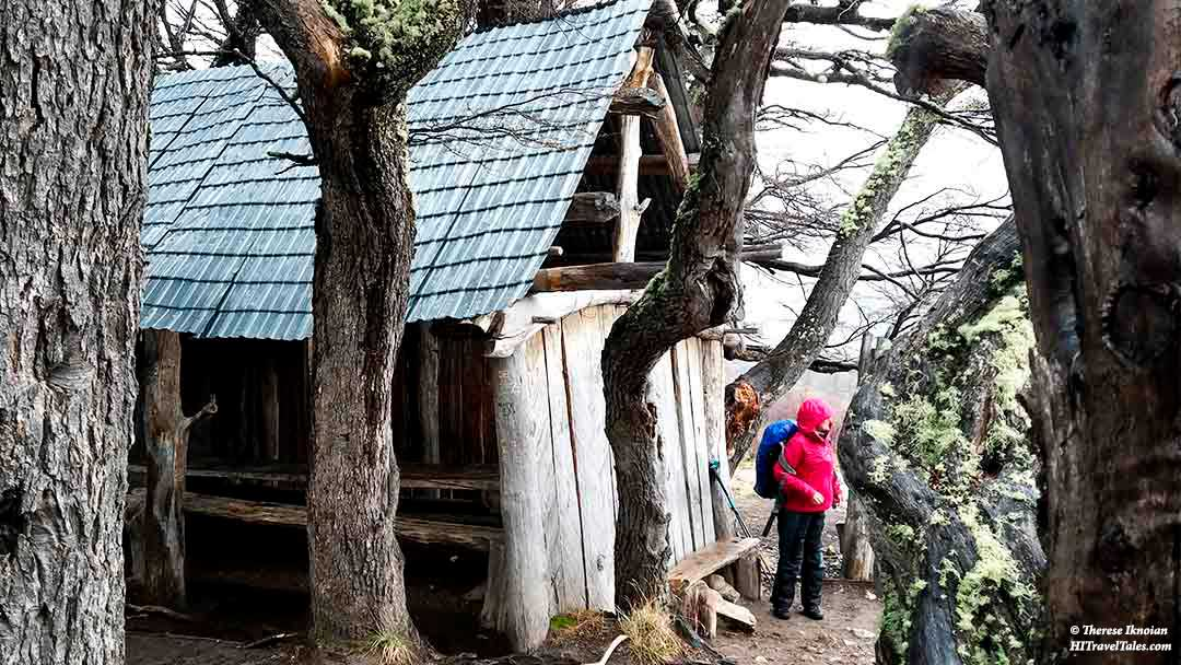 The Poincenot Hut in Patagonia.