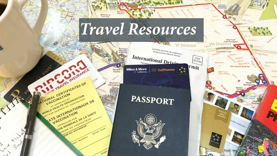 Travel resources for your upcoming trips