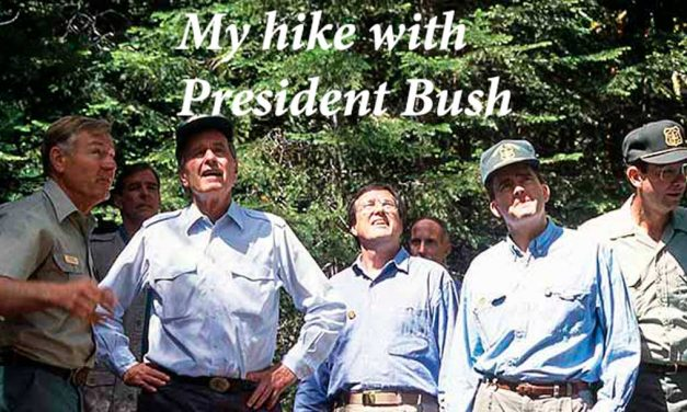 Remembering George H.W. Bush – My hike with President Bush