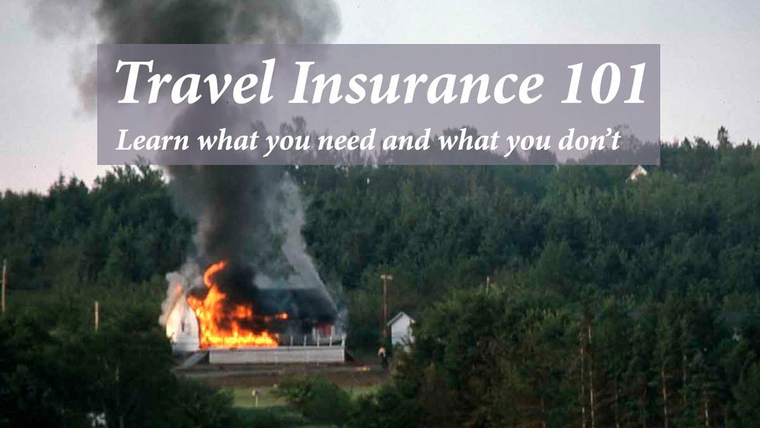 Travel insurance 101 cover with a burning bed and breakfast.