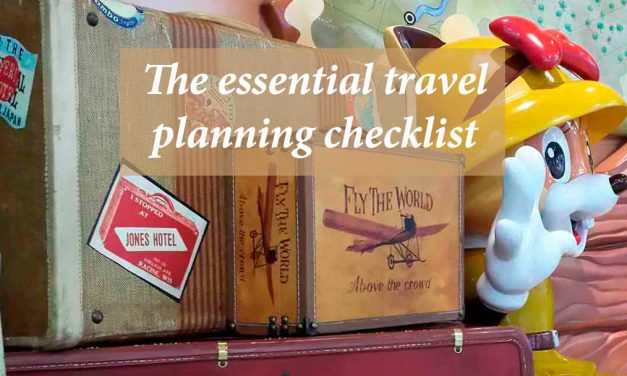 Before traveling: Use the travel planning checklist
