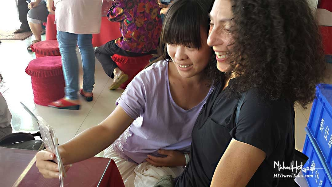 Therese getting immersed with locals in China