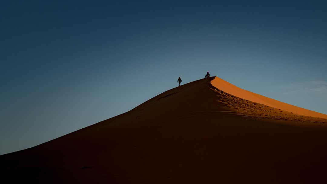 Sand dunes in Morocco by Kevin Wenning.
