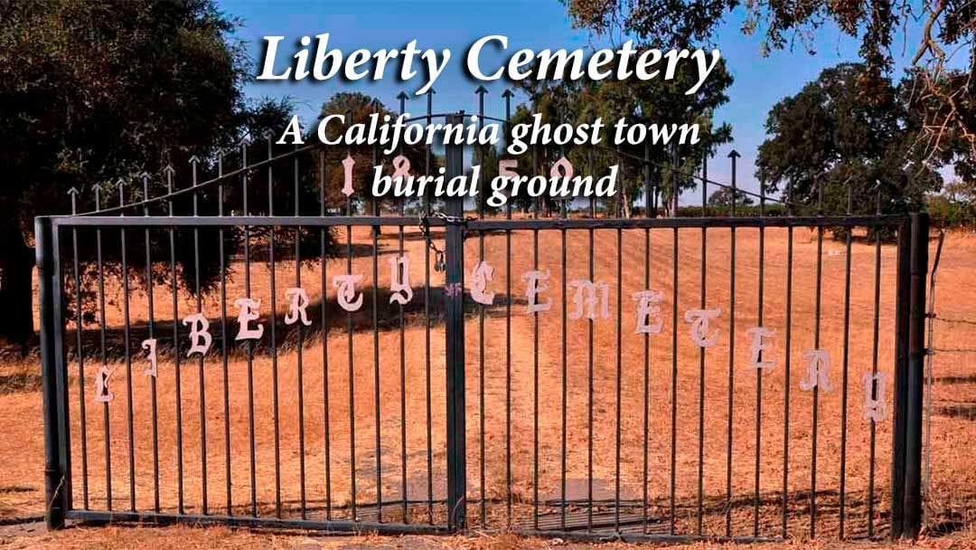 Liberty Cemetery entrance gate