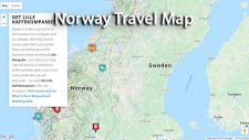 Norway Travel Map