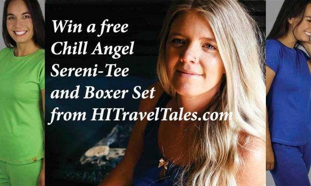 Win free Chill Angel Jammies – A Sereni-Tee and Boxer Set