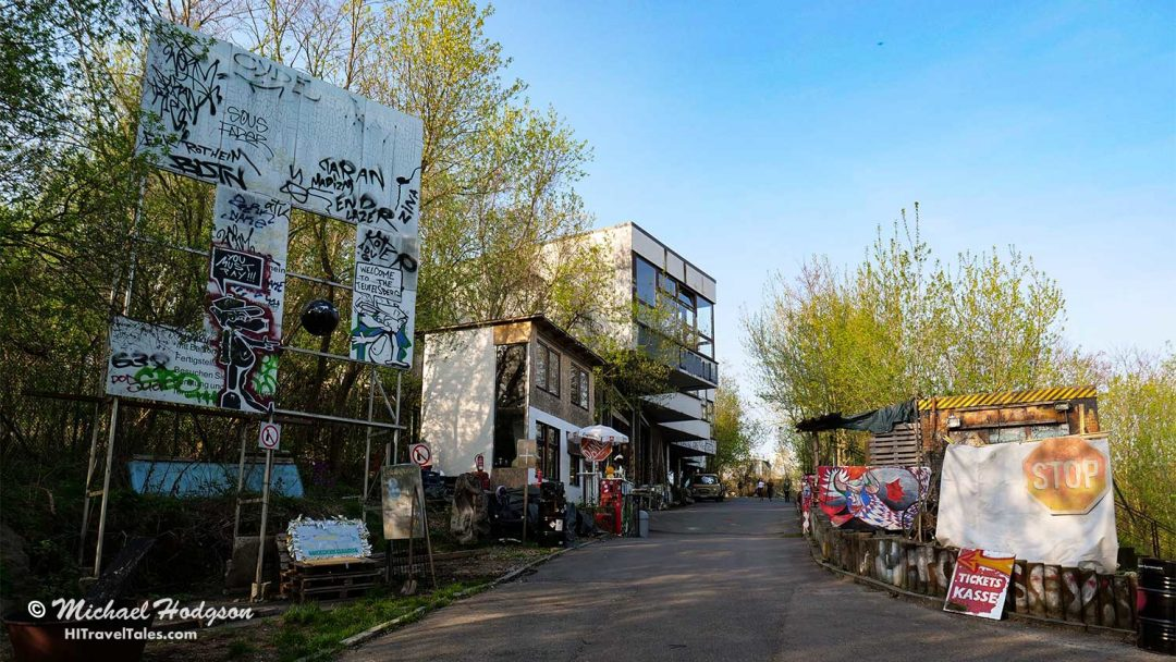 Teufelsberg Berlin entrance gate