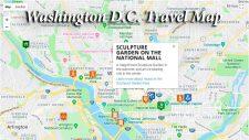 Washington DC map for travelers