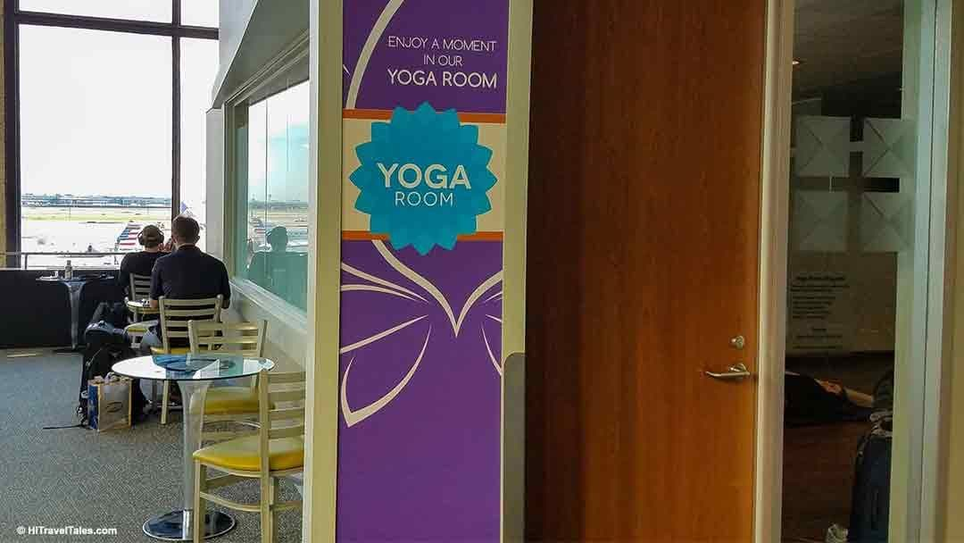 Yoga room at Chicago International Airport