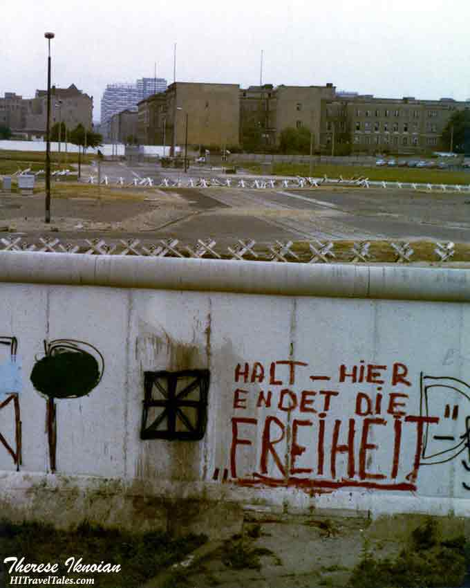 Grafitti on the Berlin Wall from the West