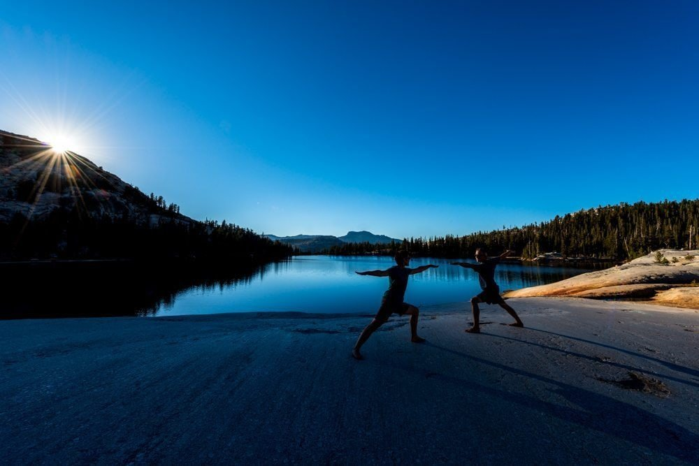Sunset Yoga at Cathedral Lake