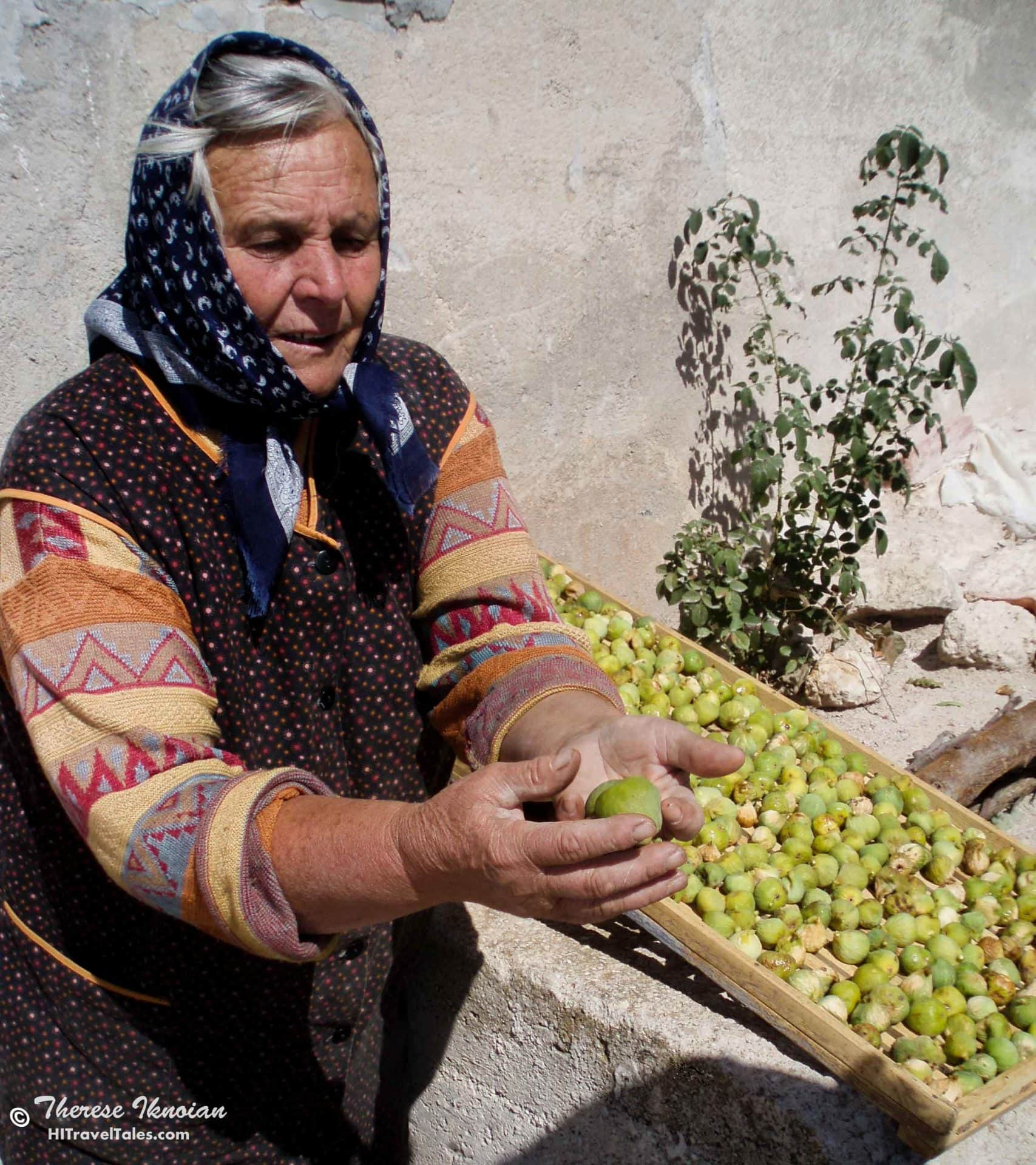 A Croatian lady and her figs caught our photographer's eye.