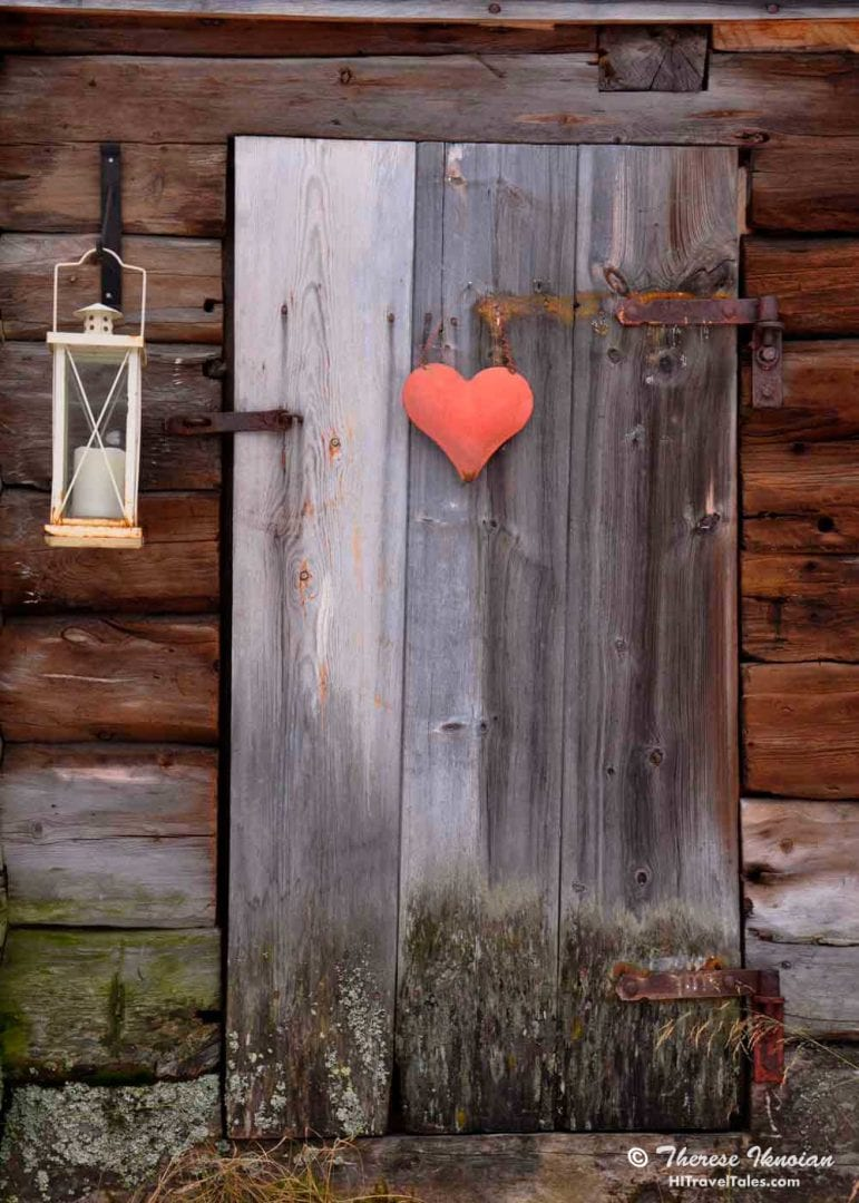 Photographers Diary - Door with a heart in Roros Norway