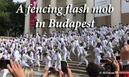 Stumbling into a fencing flash mob in Budapest