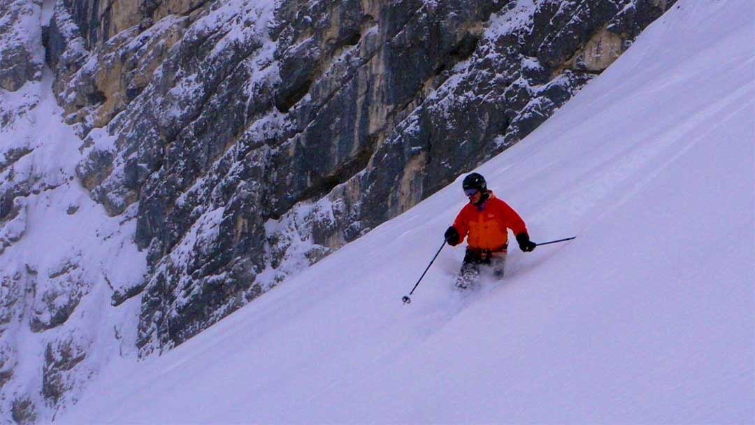 Frank Hugelmeyer skiing the steep stuff