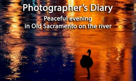 Peaceful evening in Old Sacramento on the river