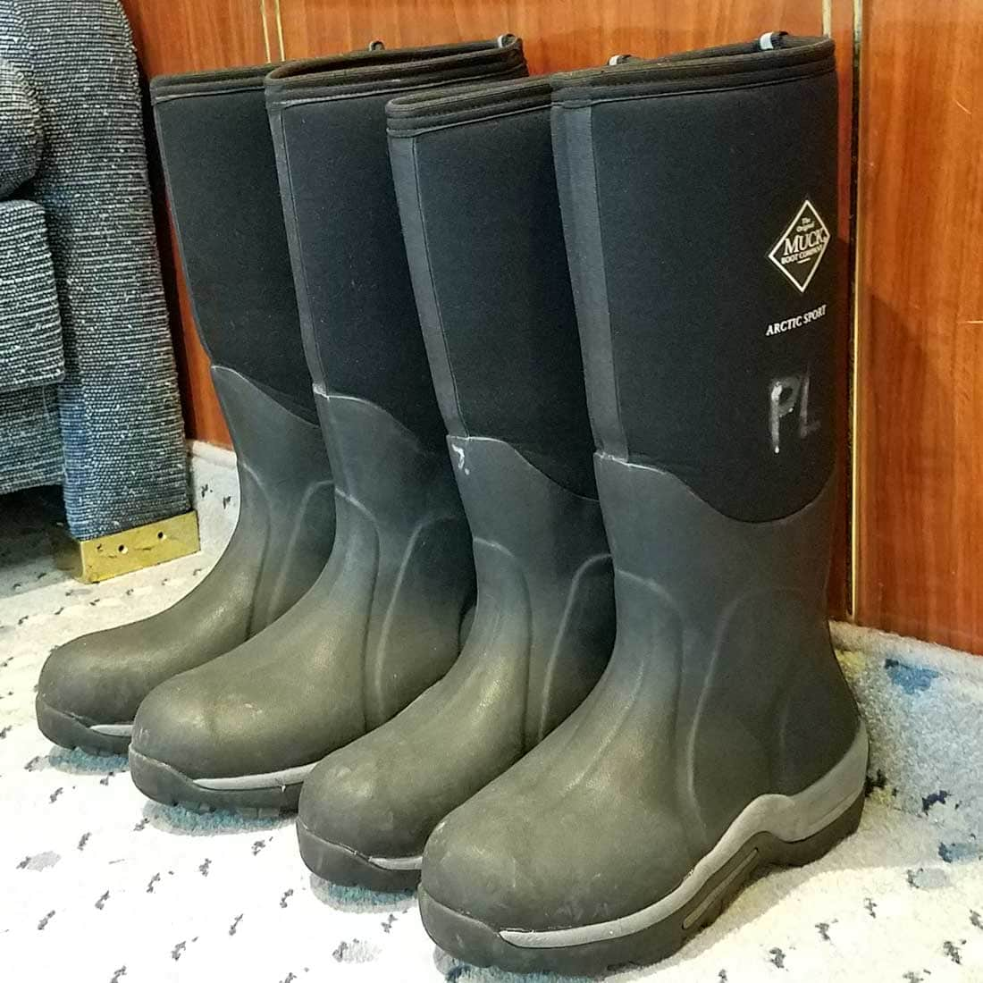MUCK boots keep feet staying warm on Antarctica ice and in cold water.