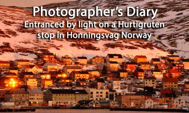Entranced by light on a Hurtigruten stop in Honningsvag Norway