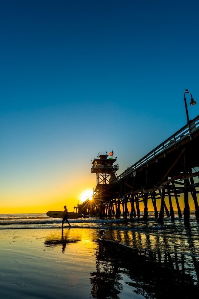 San Clemente Pier sunburst photos 1 of 2