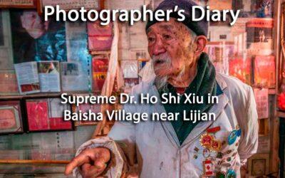 Supreme Dr. Ho Shi Xiu holds court in Baisha Village near Lijiang