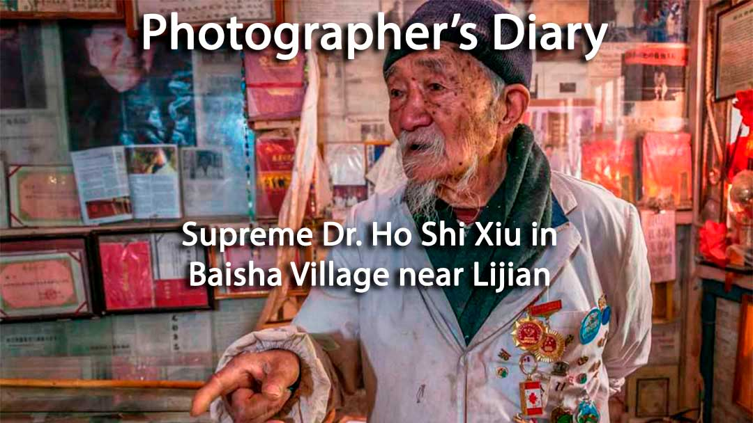 Supreme Dr. Ho Shi Xiu holds court in Baisha Village near Lijiang