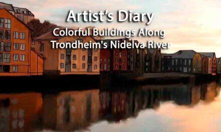 Colorful Buildings Along Trondheim's Nidelva River