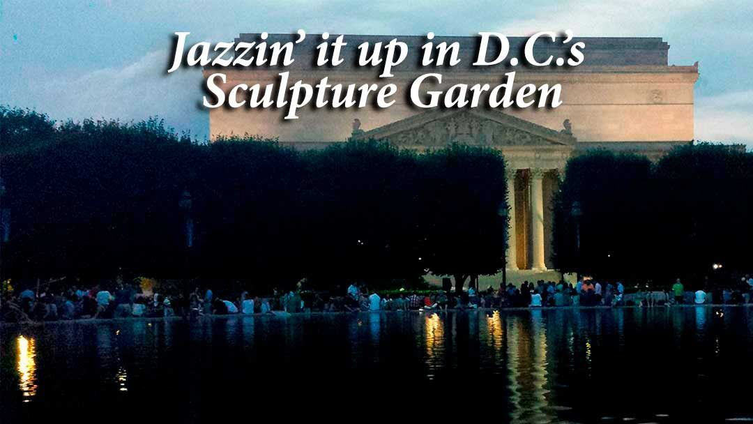 Washington DC Sculpture Garden at night