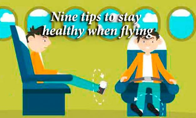 Nine tips to stay healthy when flying