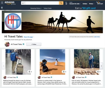 HITravelTales Amazon Influencer Storefront