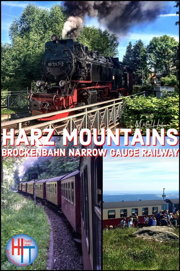 Harz Mountains Brockenbahn Narrow Gauge Railway