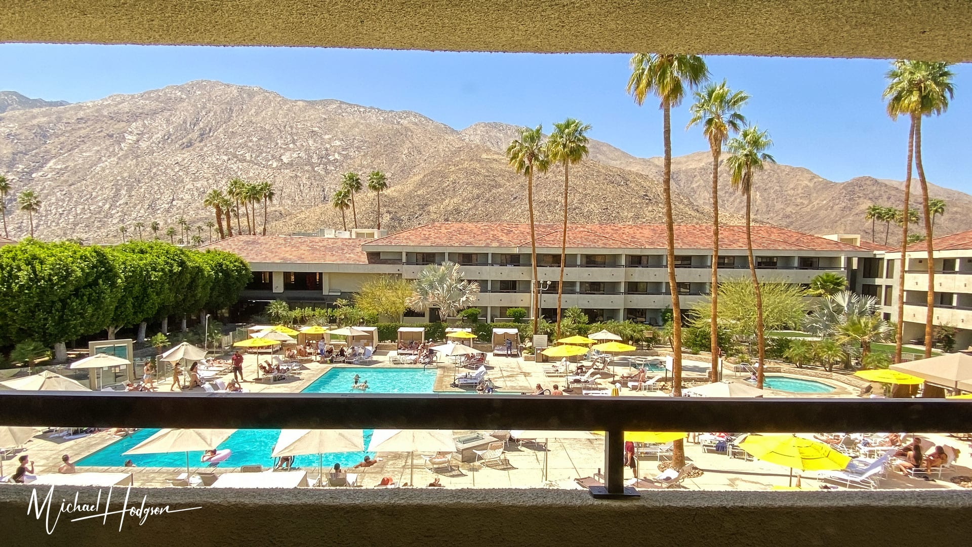 Hilton Palm Springs Resort Hotel Pool And Mountain View