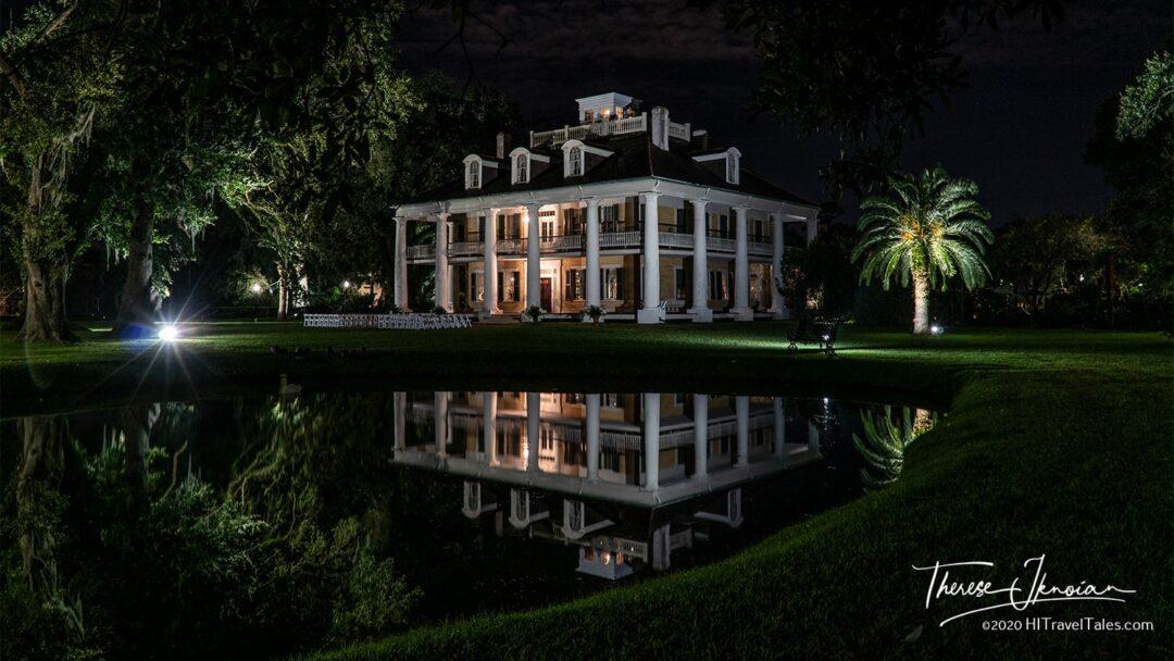Houmas House Night Reflection