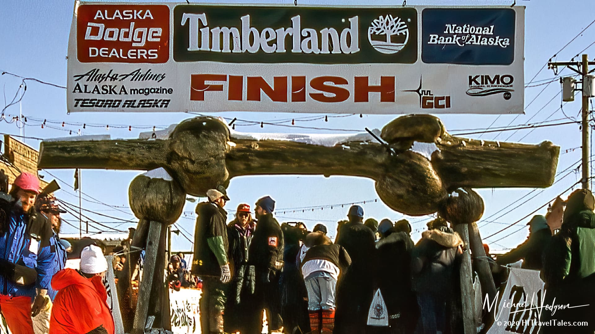 Finish Line At The 1994 Iditarod In Nome Alaska