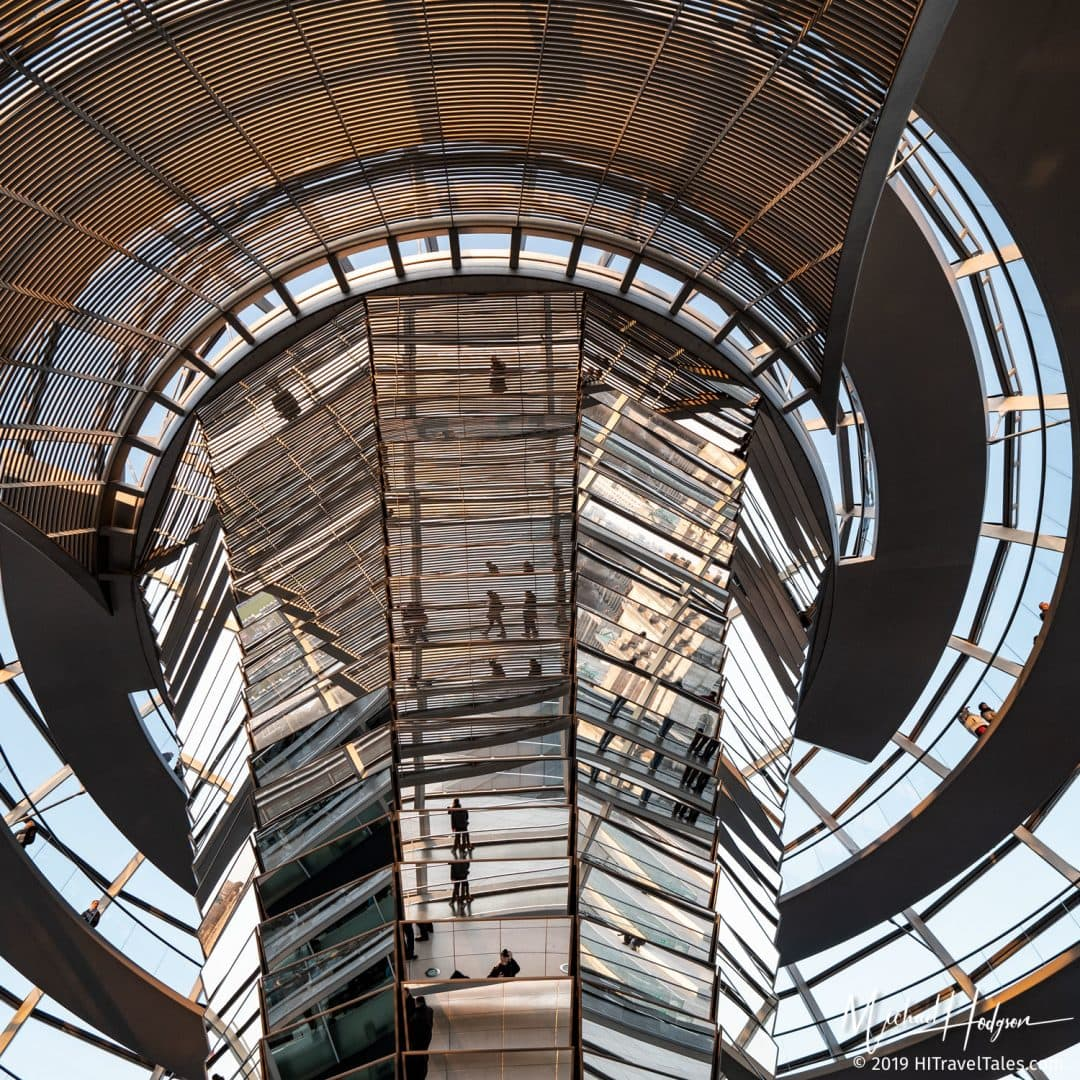 A Berlin Instagram Photo taken from Inside The Bundestag Dome