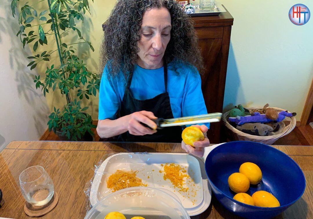 Italian Limoncello Recipe Zesting Lemons