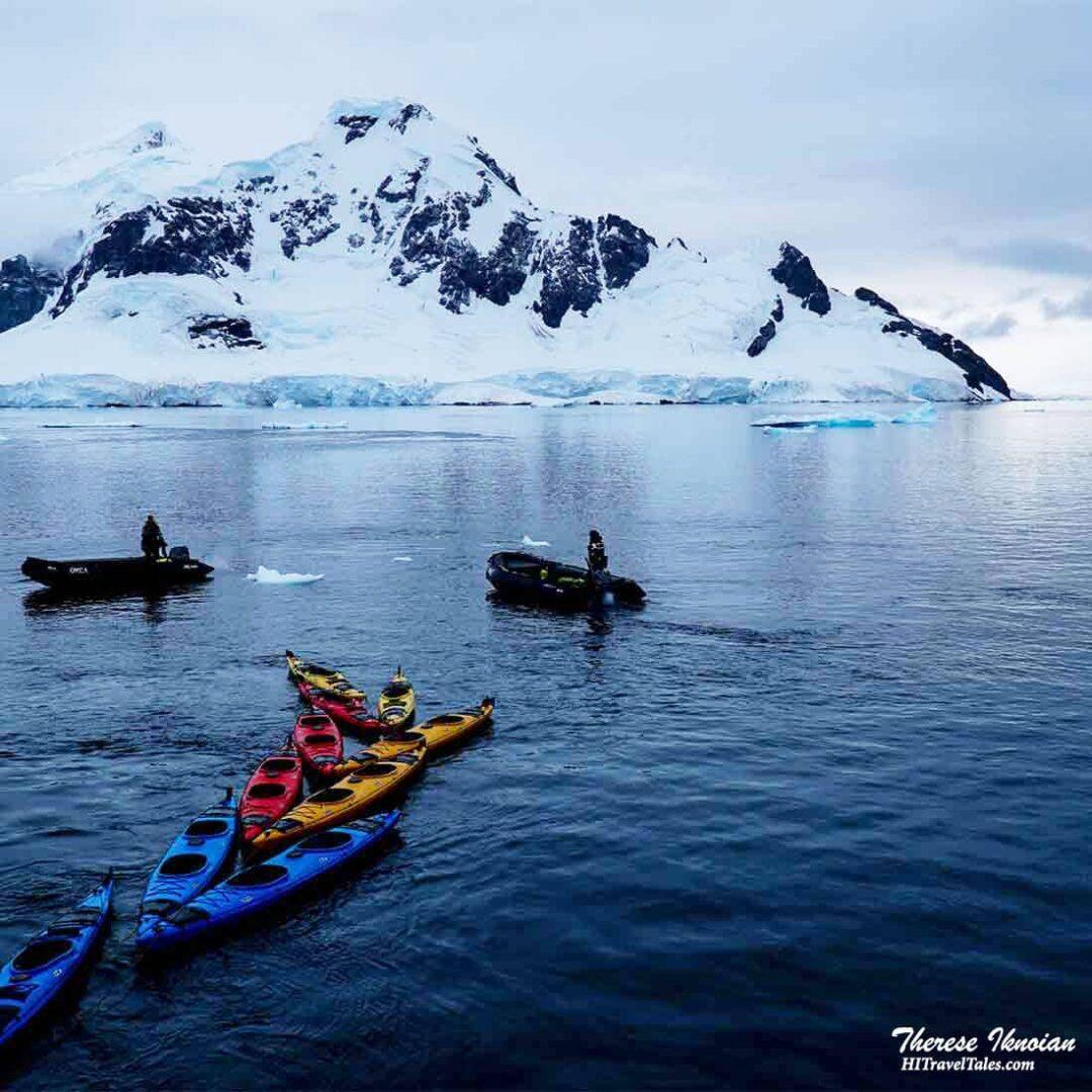 Kayaks On Sea
